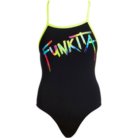 Funkita Strapped In One Piece Baddräkt Dam svart